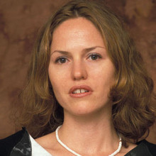 "Jorja Fox at the ""CSI: Miami"" press conference on October 15, 2002."